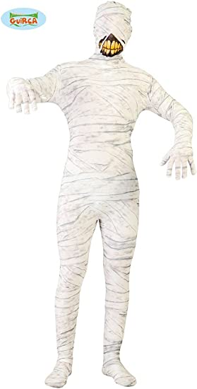 grafoplas disfraz Momia Adulto hombre TG.única, Color blanco ...