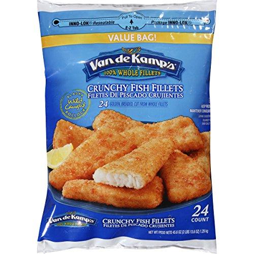 Van de Kamp's Crunchy Fish Fillets, 45.6 Ounce (frozen)