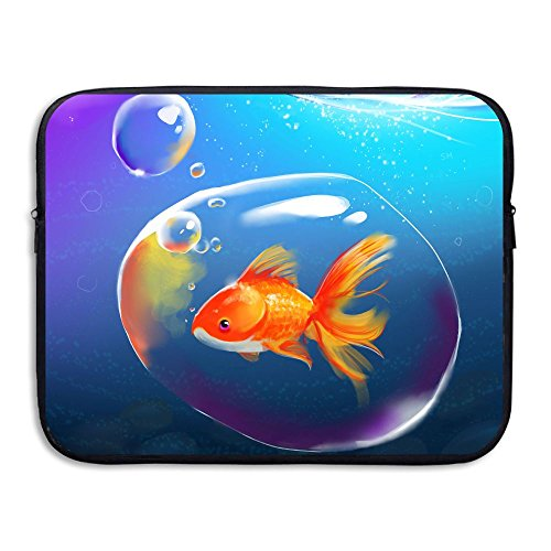 Business Briefcase Sleeve Lifelike Goldfish Painting Fans Laptop Sleeve Case Cover Handbag For 13 Inch Macbook Pro/Macbook Air/Asus/Dell/Lenovo/Hp/Samsung/Sony/Women & Men