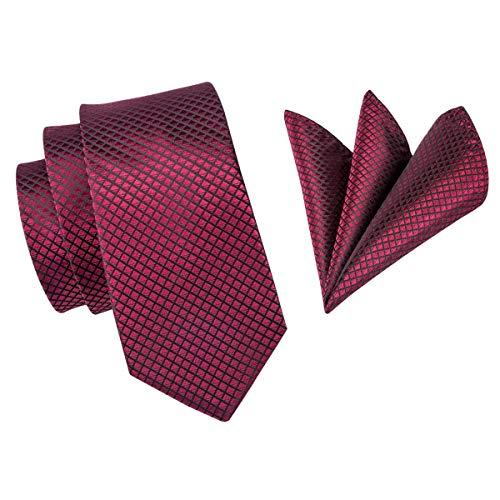 Corbatas De Seda De Alta Calidad Para Hombres Corbata Roja De 160 ...
