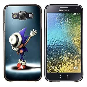 Qstar Arte & diseño plástico duro Fundas Cover Cubre Hard Case Cover para Samsung Galaxy E5 E500 (S0nic Hedgehog)