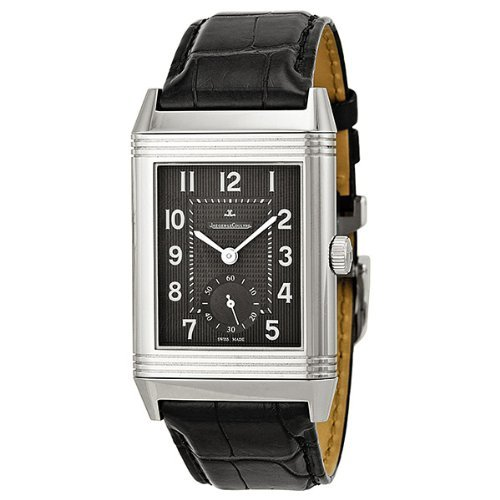 Jaeger LeCoultre Grande Reverso 976 Black Dial Leather Mens Watch Q3738470 (Jaeger Lecoultre Grande)