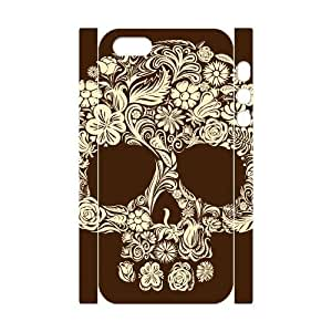 JFLIFE Artsy Skull Phone Case for iphone5s 3D Shell Phone [Pattern-1]