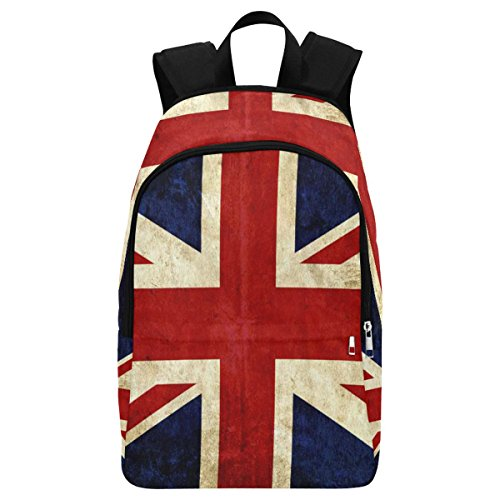 Vintage British Union Jack Flag Casual Backpack School Bag Travel Daypack ()