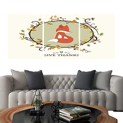 UHOO Prints Wall Art PaintingsVector Thanksgiving Greeting Card Design. Customizable Wall Stickers 24