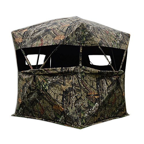 Rhino Blinds R600-MOC 3 Person Hunting Ground Blind, Mossy Oak Breakup Country