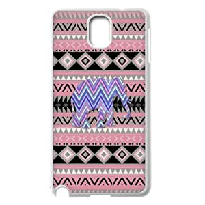 Diy Elephant Aztec Tribal Phone Case for samsung galaxy note 3 White Shell Phone JFLIFE(TM) [Pattern-2] Kimberly Kurzendoerfer