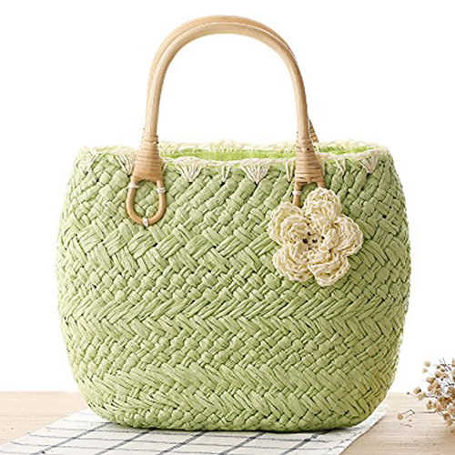 TOYIS femme Cabas straw Clair bags pour Vert qH7qC