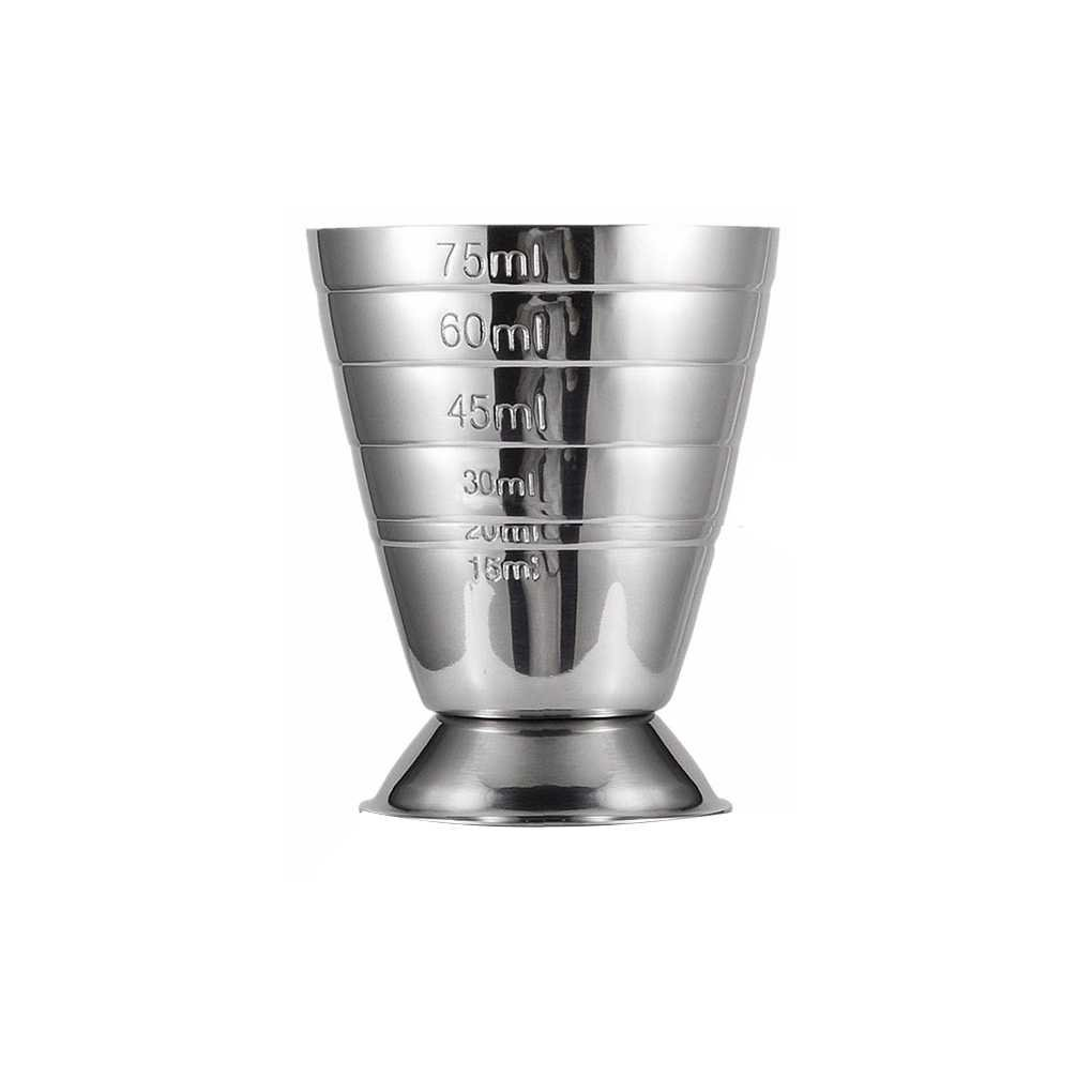 Miaomiaogo 75ML Stainless Steel Scale Measuring Jigger Cocktail Wine Drink Shaker Pub Bar Cup Tumblerful Stoup