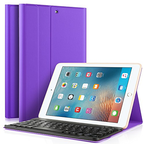 Luibor Keyboard Case for iPad Pro 11 2018 Cover Case with Removable Wireless Keyboard & Pencil Slot (Apple Pen Charging Supported) Case Fitting Apple iPad Pro 11 2018 Tablet (Modena)