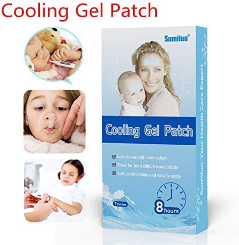 EDTara Mini Fever Antipyretic Paste Care Cooling Gel Patch Medical Baby Fever Pain Relief Pad 7pcs/set