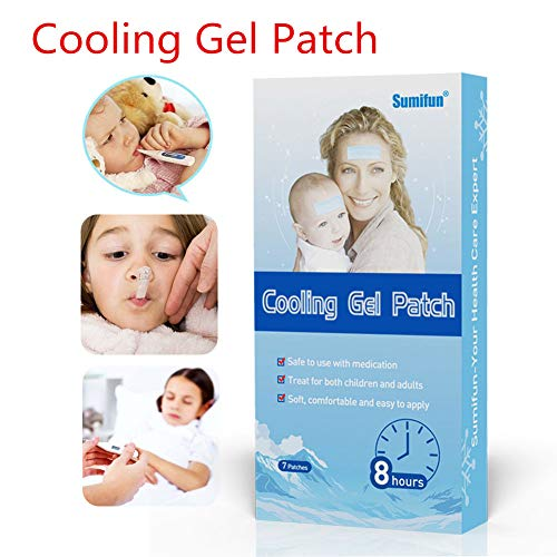 EDTara Mini Fever Antipyretic Paste Care Cooling Gel Patch Medical Baby Fever Pain Relief Pad 7pcs/set ()