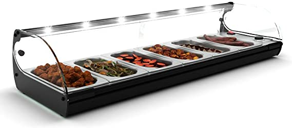 Vitrina Calienta Tapas 6 bandejas con LED - Maquinaria Bar ...