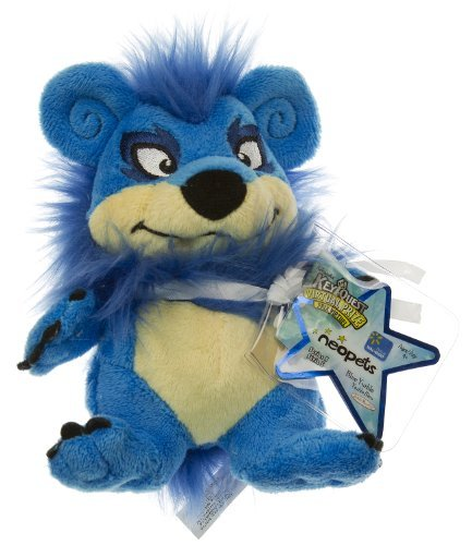 Neopets Collector Species Series 5 Exclusive Plush with Keyquest Code Blue Yurble