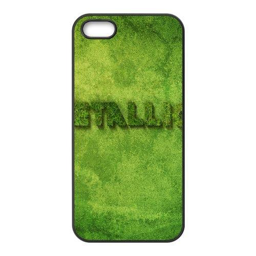 Metallica Butterfly Name Grass Background 3669 coque iPhone 5 5S cellulaire cas coque de téléphone cas téléphone cellulaire noir couvercle EOKXLLNCD25996