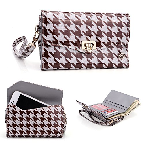 iPhone 6s Universal Wallets and Clutch Purses ! Womens and Unisex Style Options and Colors! - ESMLPKN1 - Houndstooth Brown