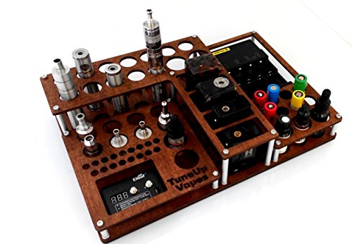 Vape stand 56 holes Titan Wood walnut(510 ohm meter included)