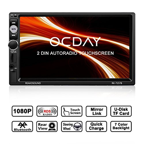 Double DIN Car Radio/2 DIN Car Radio with Ocday FHD 1080P Touch Screen Car...
