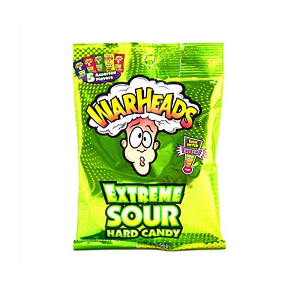 Warheads Extreme Sour Hard Candy Pouch, 56 g