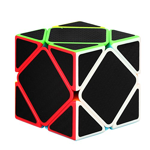 Twister.CK Oblique Twist Puzzle Cube with Carbon Fiber Sticker,Skewb Magic Cube,Fluctuation Angle Puzzle Cube,Made of Friendly ABS Plastic Material,The Color and New Style Will Never Fade Away.