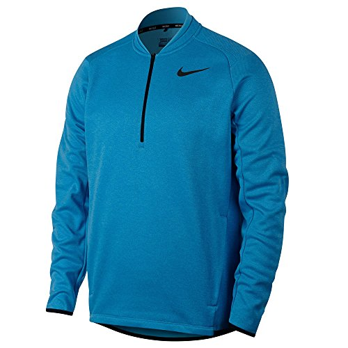 Nike Therma Fit Top Half Zip Golf Pullover 2017 Blue Fury/Light Blue Lacquer/Black (Nike Half Zip Pullover)
