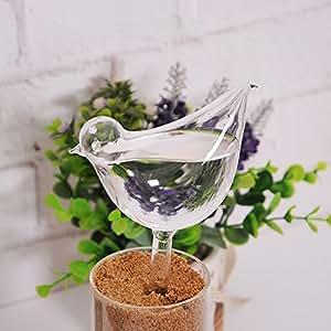 Cristal automático Pájaro Forma simple Planta de dispositivo riego para jardín flor