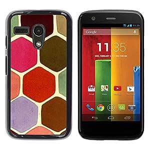 Be Good Phone Accessory // Dura Cáscara cubierta Protectora Caso Carcasa Funda de Protección para Motorola Moto G 1 1ST Gen I X1032 // Pastel Tone Colors Pink Turtle