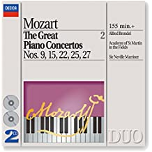 Mozart: The Great Piano Concertos Nos. 9, 15, 22, 25 & 27 (2 CDs)