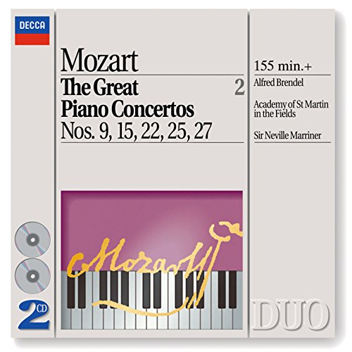 Mozart: The Great Piano Concertos Nos. 9, 15, 22, 25 & 27 (2 CDs) (Piano Concertos Album Cd)