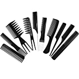 Iebeauty 10 Pcs Hair Color Applicator Comb Set,10 in 1 Styling tool set With Clear Bag,Travel Essential