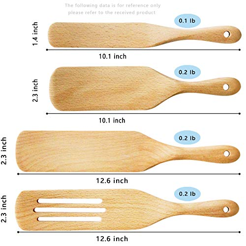 Spurtles kitchen tools,cooking utensils,Moliy wooden spoons for cooking,spatula kitchen utensils Set, gift packaging