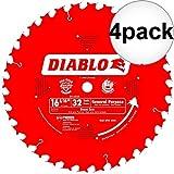 Diablo D1632 X 16-5/16 x 32 Tooth Beam Cutting Blade 4-Pack
