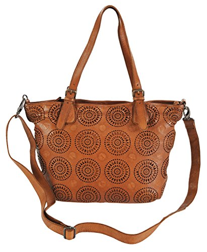 Leather Handbag Gianni Italian Tan Conti Tote 4303380 Fine Bag Shopper 4qIqT07x
