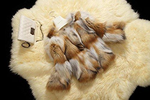 YR Lover Damen Echter Rot Fuchs Pelz Mantel Jacket
