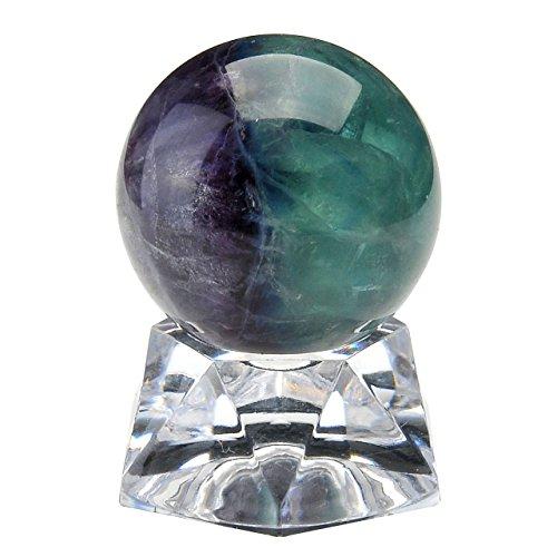 PESOENTH Fluorite Crystal Ball Gemstone Sphere 30mm/1.2