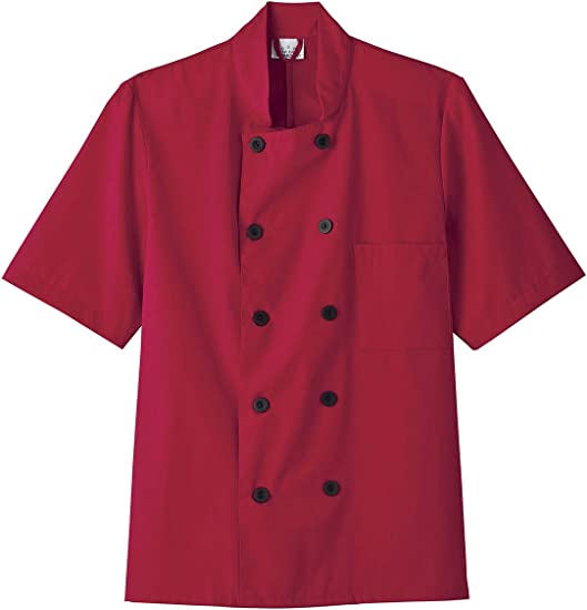 Five Star Chef Apparel 18001//18025 Unisex Short Sleeve Chef Jacket