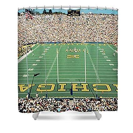 Pixels Shower Curtain 74quot X 71quot QuotUniversity Of Michigan Stadium