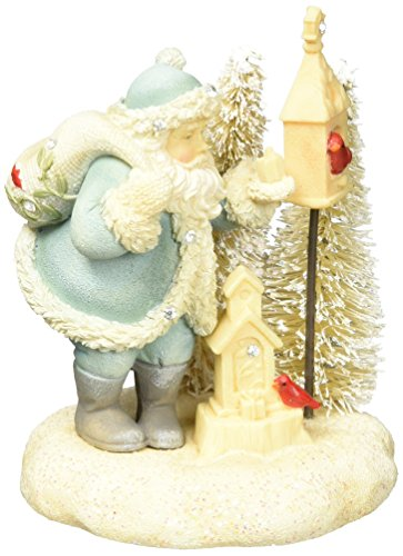 Foundations Mini Winter Vignette Santa Stone Resin Figurine, 3