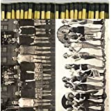 Decorative Retro Match Boxes Bathing Beauties 1925 Crew 1911 with Long Matches Great for Lighting Candles, Grills, Fireplaces and More | Set of 2 Large Match Boxes
