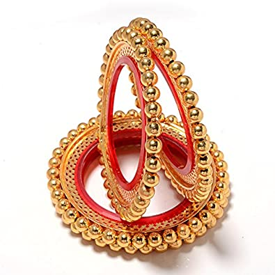 Buy Jewar Gold Plated Bangle Set For Girls 26 Online at Low