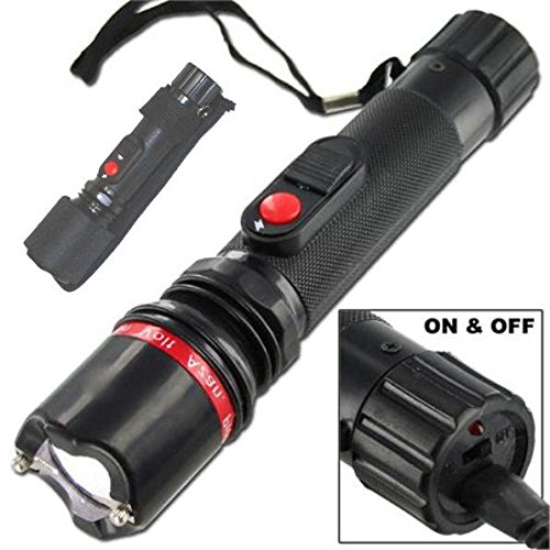 Azan-Black-Compact-25-Million-Volt-Stun-Gun-Flashlight-Combo-with-Carrying-Holster-Case