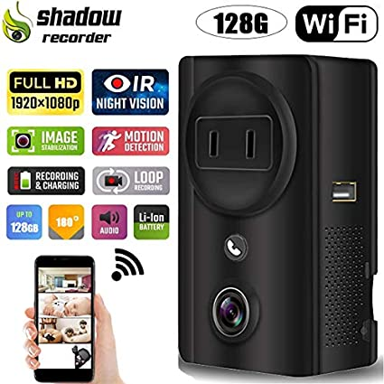 Shadow EC59 Wireless Hidden Camera Support Remote Mobile Viewing and Storage WiFi 1080P Spy Camera with