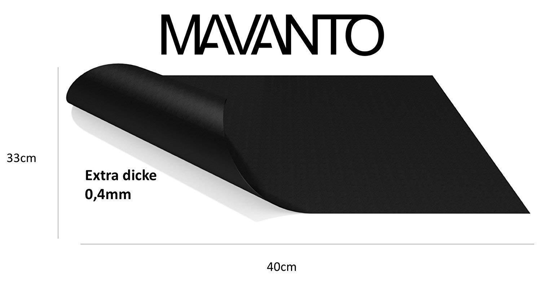 Mavanto Extra Lot de 2 Films de Cuisson permanents pour Four sans Plastique 0,4 mm 40 x 33 cm