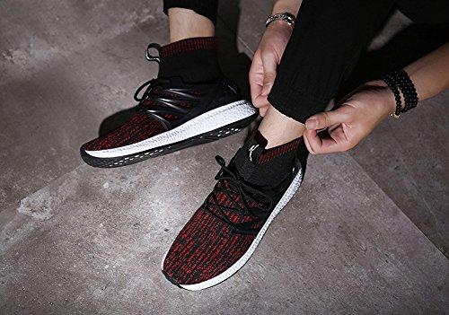 Sneakers Transform Men's Running Flyknit by Fashion Shoes Free JiYe Red A0IWn4q4