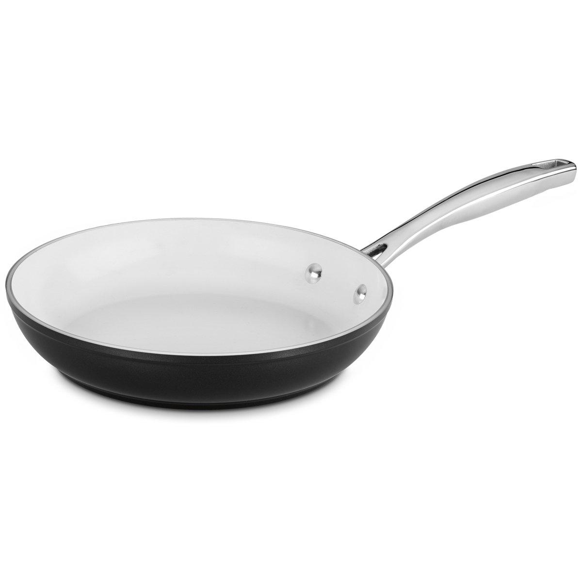 Amazon.com: Cuisinart Elements 10piece Ceramica Polar White Non Stick cookware: Kitchen & Dining
