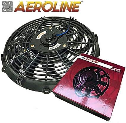 Aeroline Ventilador eléctrico para radiador, 120 W, 12 V, ajuste ...