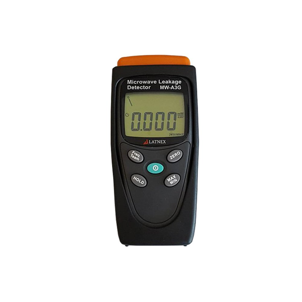 LATNEX MW-A3G Proffesional Calibrated Meter Detects Radiation and Leakage from Microwave Ovens & RF Welding Machines & RF Sources - Built-in Alarm - Perfect Tool for Homeowners