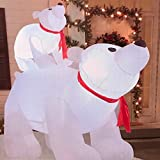 Outdoor Inflatable Polar Bear Family 6-Foot Holiday Decoration