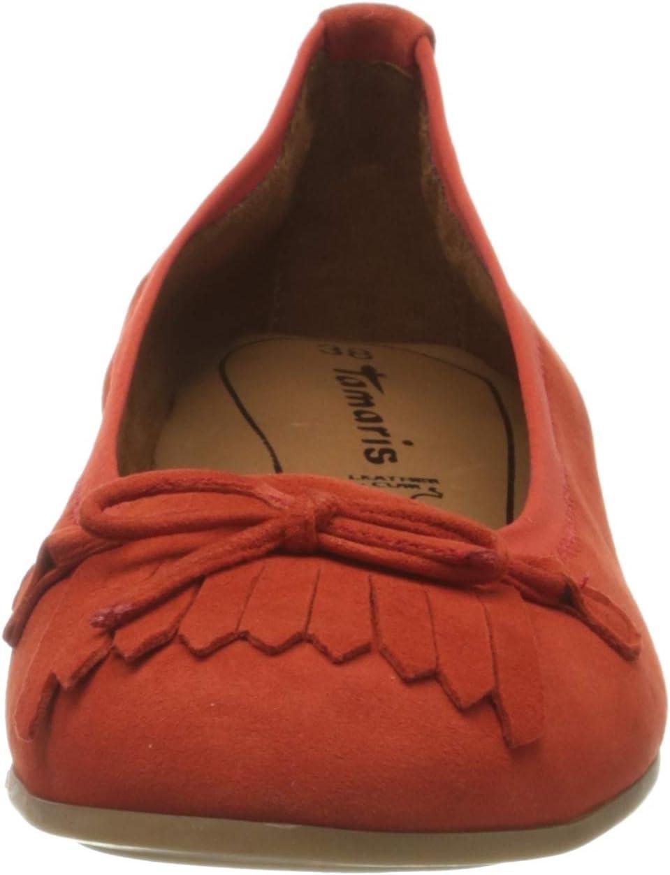 Tamaris 1-1-22117-24 Ballerina's voor dames Rood Flame 572