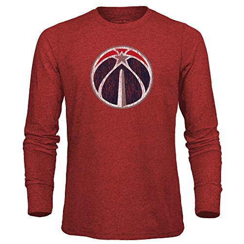 fan products of NBA Washington Wizards Men's Premium Triblend Long Sleeve Tee, XX-Large, Red